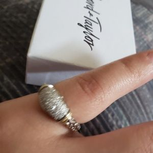 effy Jewelry - 18 k gold ss dimond ring